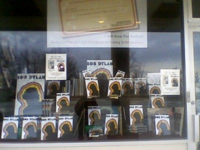 A window display at the Bookloft in Great Barrington, Mass.